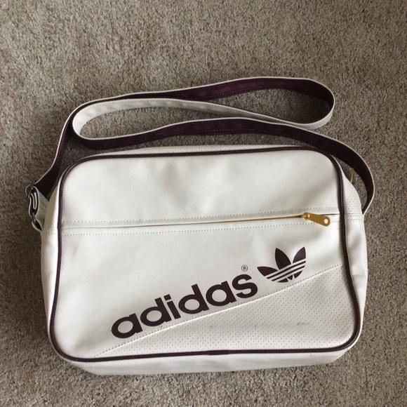 b9435d99a07 adidas Bags   White Leather Sports Shoulder Bag   Poshmark
